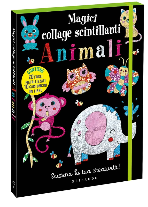 Magici collage scintillanti - Animali