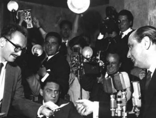 La premiazione dello Strega nel 1958