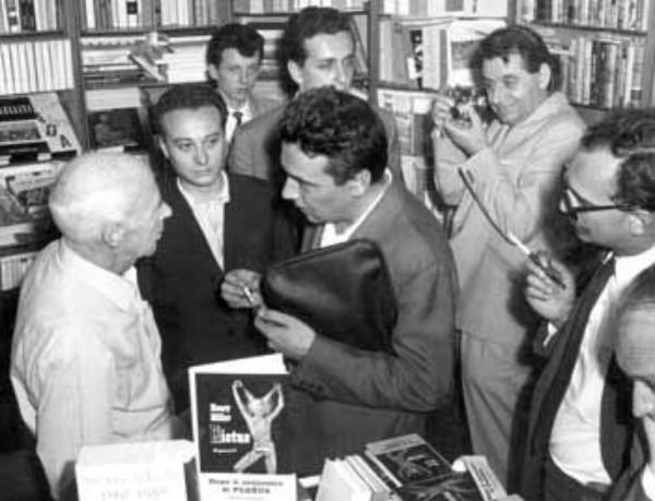 Con Henry Miller e Luciano Bianciardi, suo traduttore.