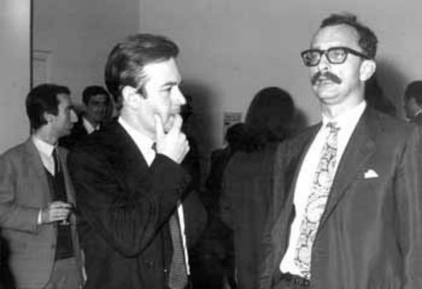 Con Nanni Balestrini, fondatore del Gruppo 63 e consulente e scrittore per la Feltrinelli.