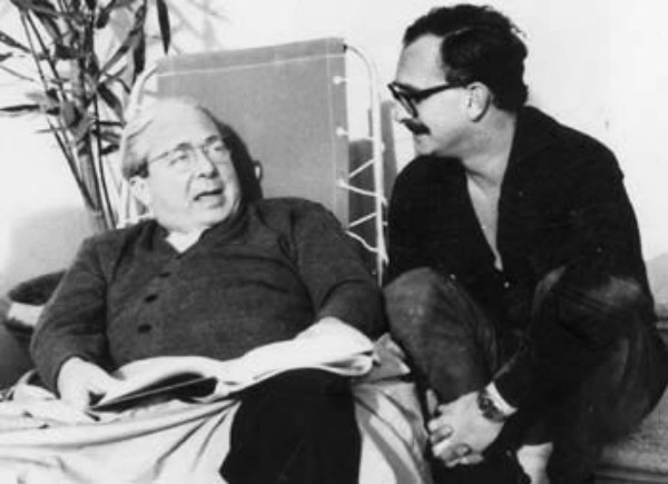 Con Leo Szillard, che con Einstein firmò la lettera a Roosevelt che diede inizio al progetto Manhattan